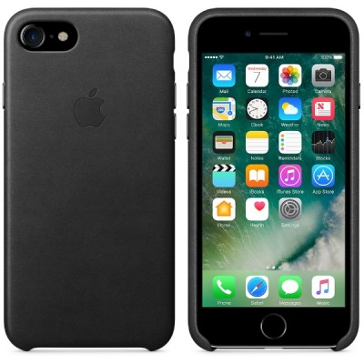 Apple iPhone 7 Leather Case - Black