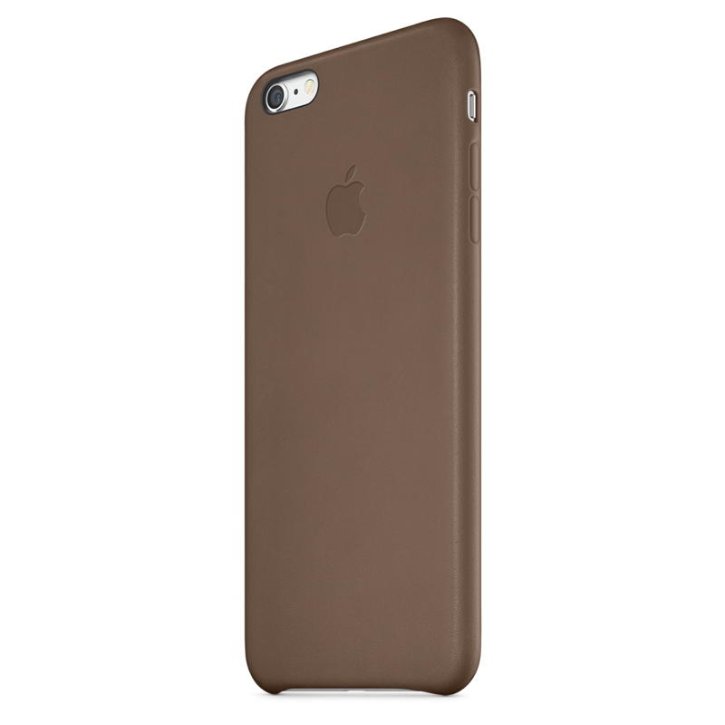 wholesale dealer 47798 1a48c Apple iPhone 6 Plus Leather Case - Olive Brown