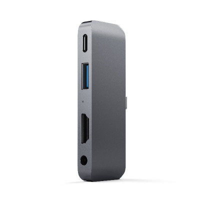 Satechi Aluminum Type-C Mobile Pro Hub Adapter for iPad - Space Gray