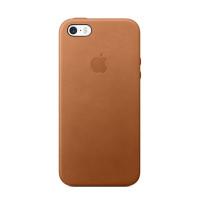 Apple iPhone SE Leather Case - Saddle Brown