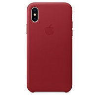 Apple iPhone X Leather Case - Red