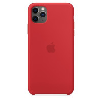 Apple iPhone 11 Pro Max Silicone Case - Red