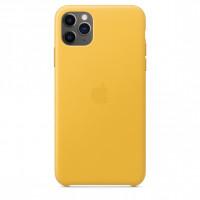 Apple iPhone 11 Pro Max Leather Case - Meyer Lemon