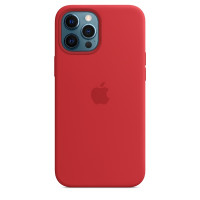 Apple iPhone 12 Pro Max Silicone Case with MagSafe - Red