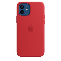 Apple iPhone 12 | 12 Pro Silicone Case with MagSafe - Red