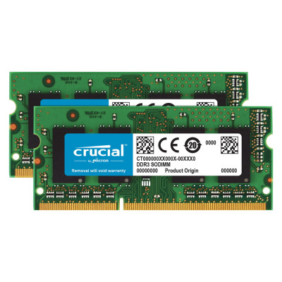 Crucial 8GB (2x4GB) 1333MHz DDR3 (PC3-10600) SO-DIMM Kit for Mac