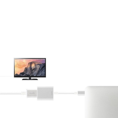 Moshi USB-C to HDMI Adapter - Silver