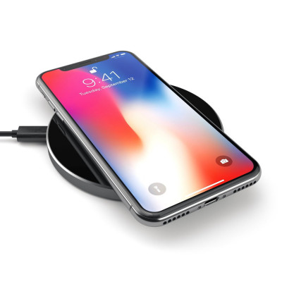 Satechi Aluminum Wireless Charger - Space Gray