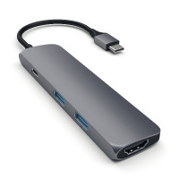 Satechi Aluminum Type-C Slim Multi-Port Adapter 4K - Space Grey