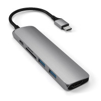 Satechi Slim Aluminum Type-C Multi-Port Adapter V2 - Space Grey