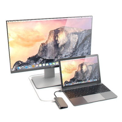 Satechi Aluminum Multi-Port Adapter 4K with Ethernet - Space Grey