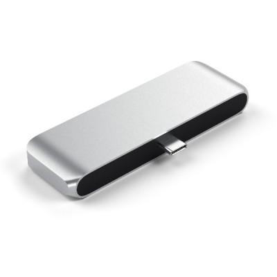 Satechi Aluminum Type-C Mobile Pro Hub Adapter for iPad - Silver