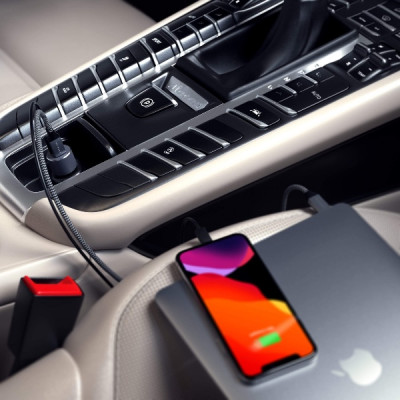 Satechi 72W Type-C PD Car Charger - Space Gray
