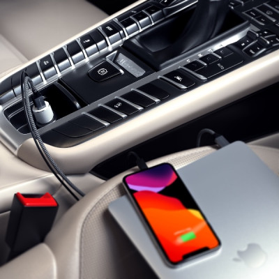 Satechi 72W Type-C PD Car Charger - Silver