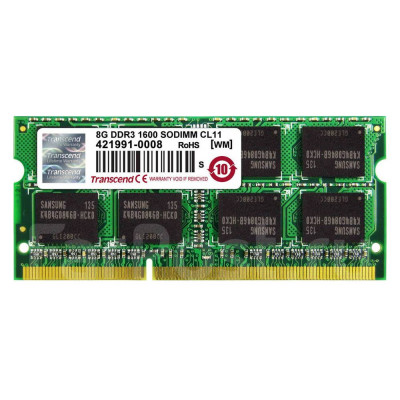 Transcend 8GB 1600MHz DDR3 (PC3-12800) SO-DIMM for Mac